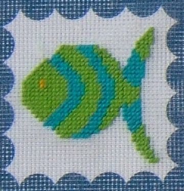 Fish Tapestry Kit by Daisy Designs from Derwent water Designs.